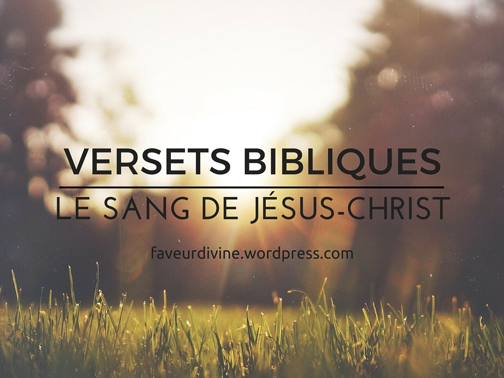 20 Versets bibliques puissants sur le sang de Jésus-Christ