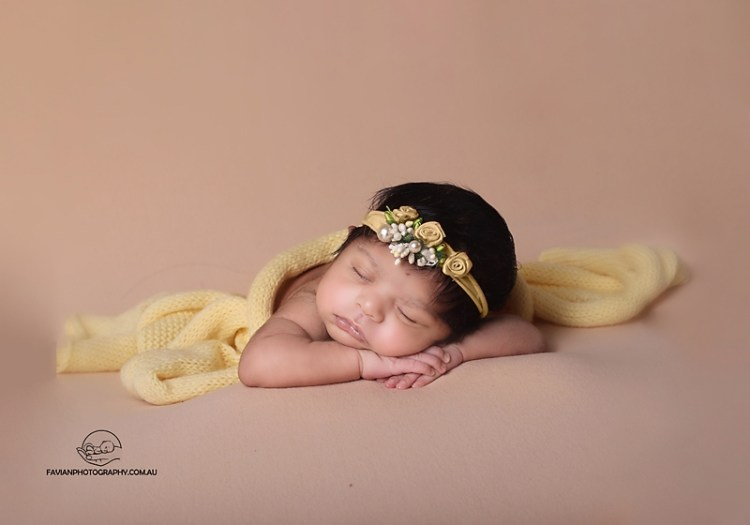 Brisbane newborn baby girl photography session