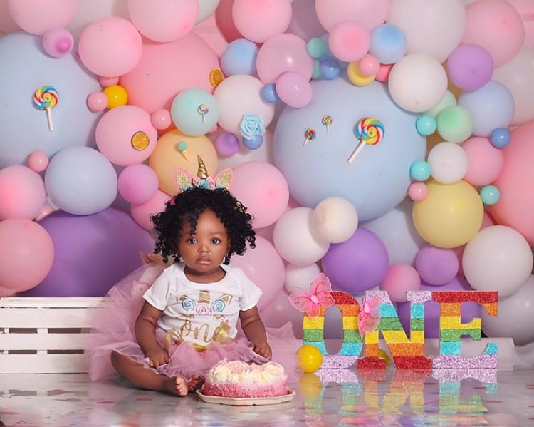 Brisbane Baby girl Birthday Cakesmash photoshoot