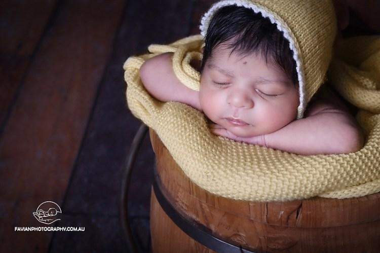 newborn baby girl photography session Brisbane