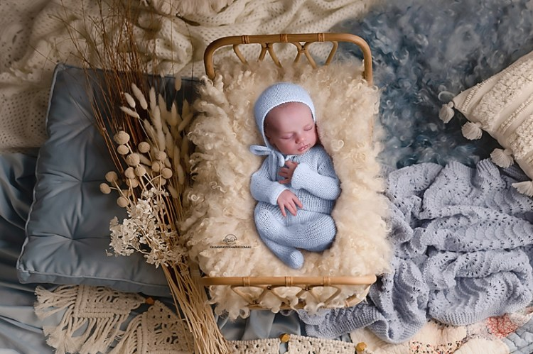 Brisbane newborn baby photographer, boho style