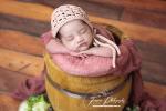 Baby girl photography bucket pose