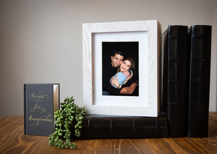 Brisbane newborn photographer wall art print. prices and packaging