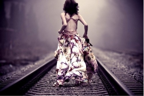 Image result for woman running for a train