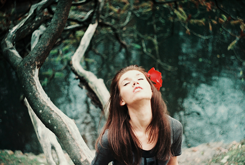 Image result for roses, river and a woman photo