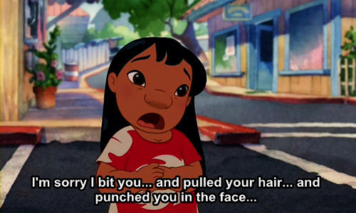 Lilo apology Lilo and Stitch