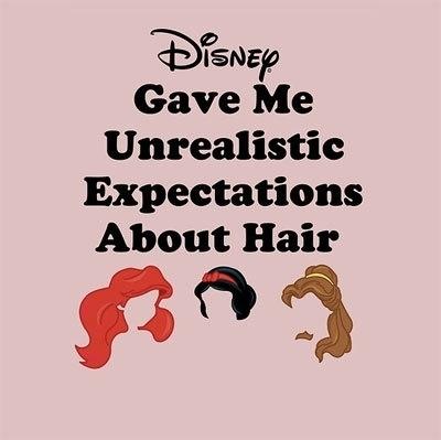 disney, disney princesses, expectations, fake, hair