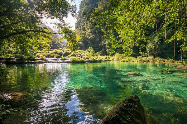 Guatemala Landscapes Nature Scenery Water Waterfalls