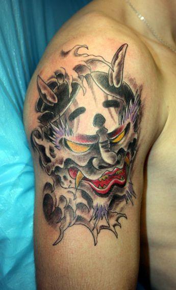 Japanese Art Tattoo Design Idea Tattoos Angry Face
