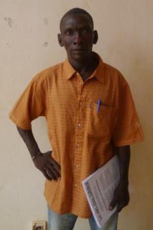 Le gérant de Kiembara à la fin de la formation