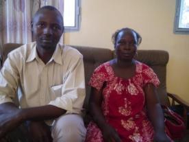 Alidou Boué et maire de Kiembara