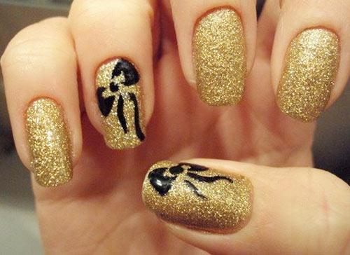 Black And Gold Nail Art Design Best Designs