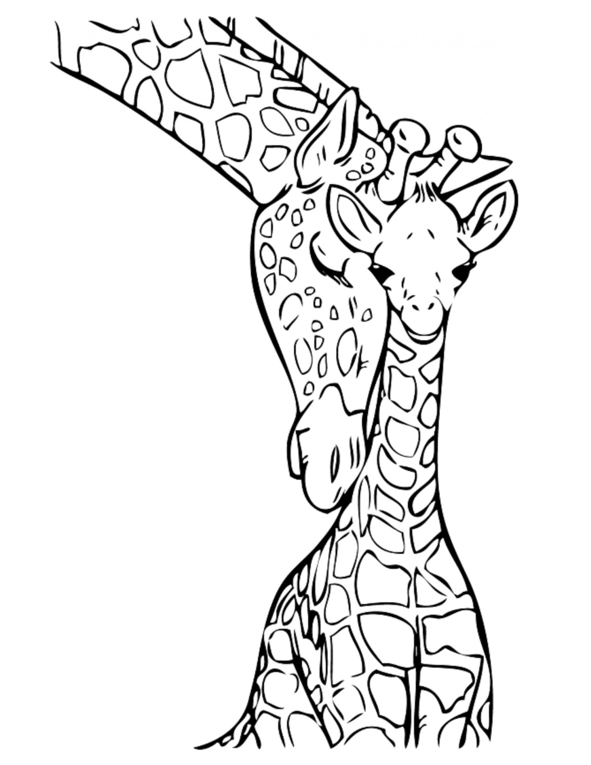 Best 25 Giraffe Coloring Pages For Kids Home Family