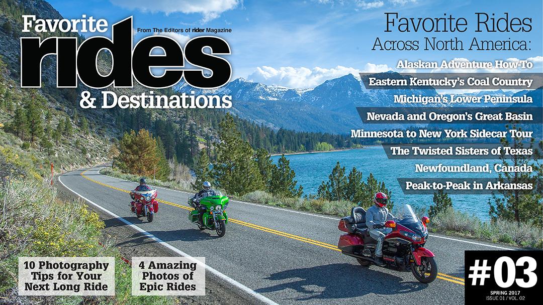 Favorite Rides & Destinations Spring 2017