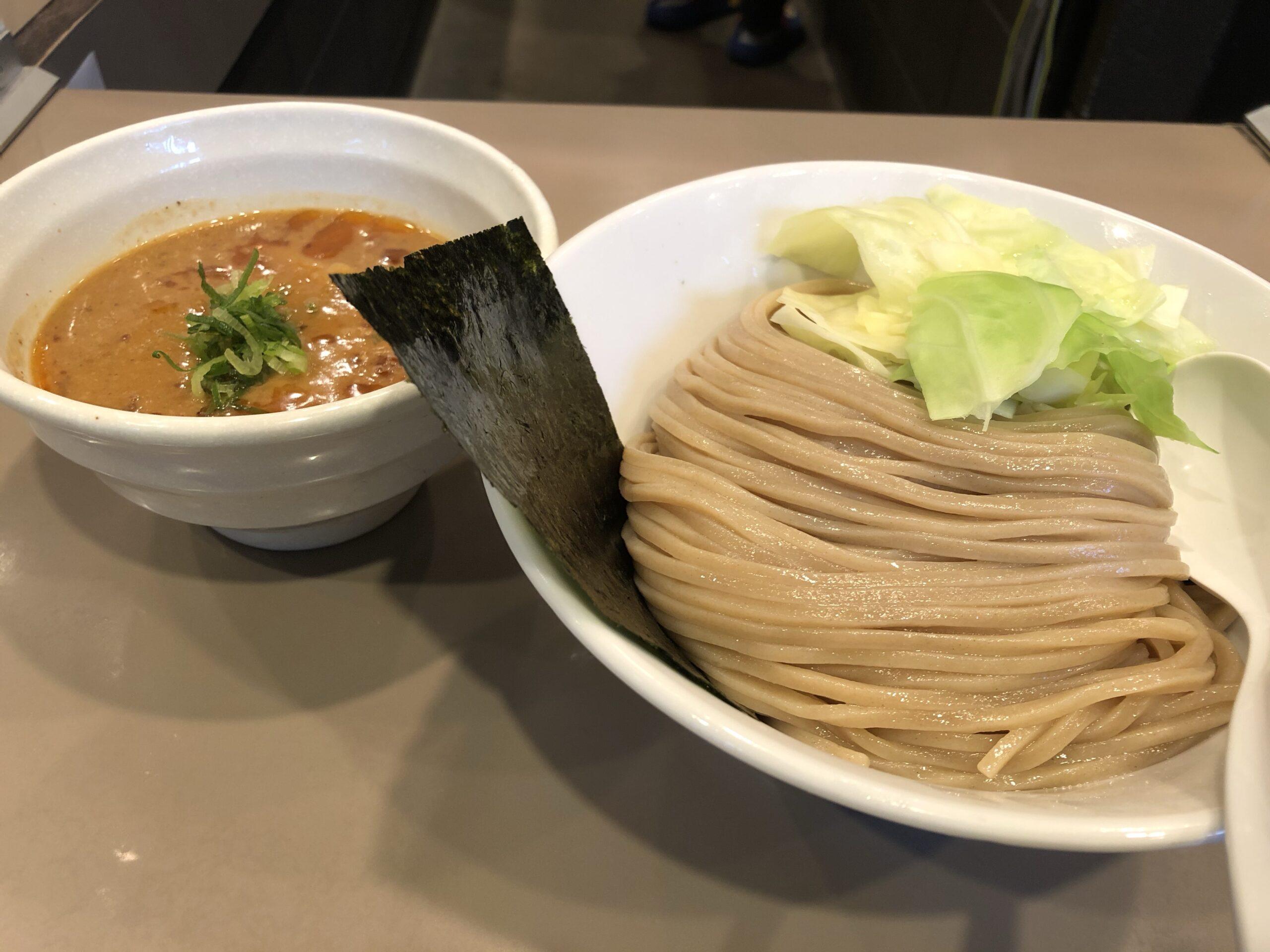 新宿「五ノ神製作所」 海老と味噌の最強コラボ、海老味噌つけ麺