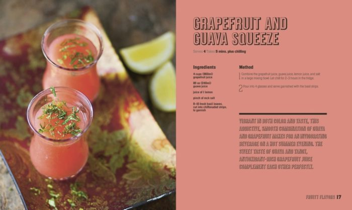 Grapefruit and Guava Squeeze -Mocktails, Punches and Shrubs Book Review - DK Canada