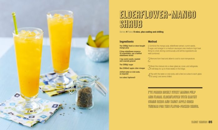 Elderflower-Mango Shrub - Mocktails, Punches and Shrubs Book Review - DK Canada