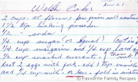 Welsh Cakes Recipe Page1 - Favourite Family Recipes