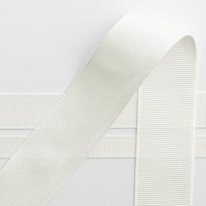 Ivory Grosgrain Ribbon