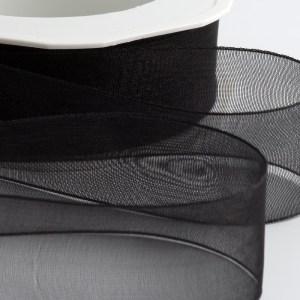 Black Organza Ribbon