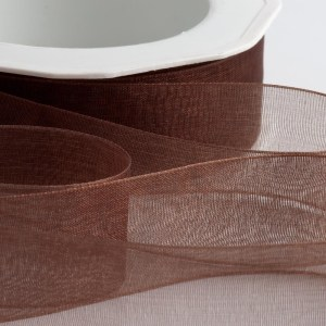 Brown Organza Ribbon