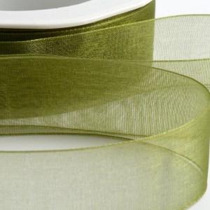 Moss Green Organza Ribbon