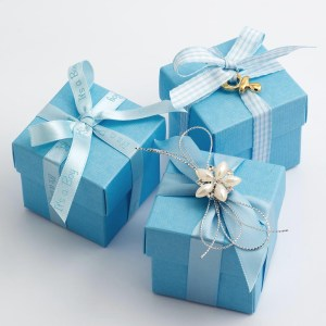 Blue Favour Boxes
