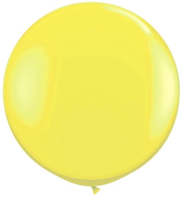 1 Metre Yellow Giant Balloons
