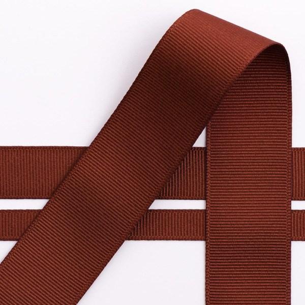 10mm Brown Grosgrain Ribbon 10M
