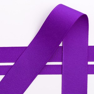 13mm Purple Grosgrain Ribbon 20M