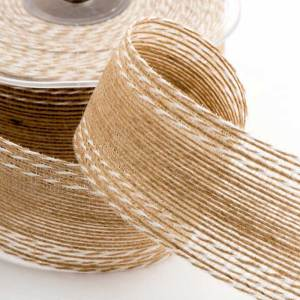 38mm Stitched Hessian Ribbon