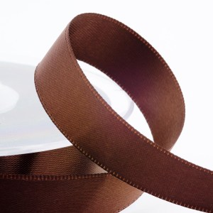3mm Brown Satin Ribbon 50M