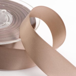 3mm Taupe Satin Ribbon 50M