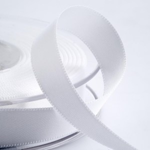 3mm White Satin Ribbon 50M