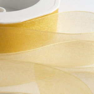 7mm Gold Organza Ribbon 50M