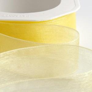 7mm Lemon Organza Ribbon 50M