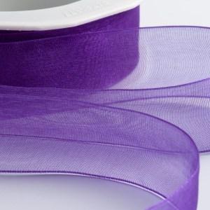 7mm Purple Organza Ribbon 50M
