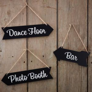 Chalkboard Wedding Arrow Signs