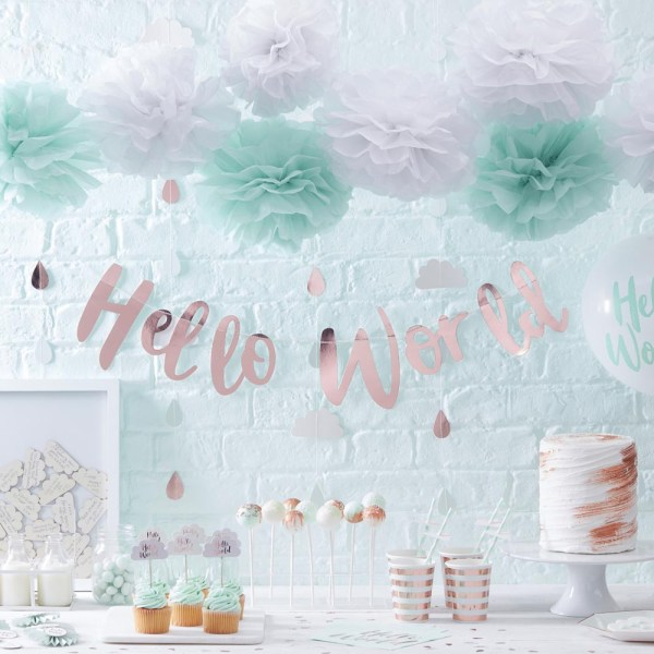 Rose Gold & Clouds Backdrop