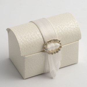 Antique White Pelle Cofanetto Favour Box