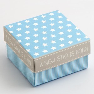 Blue Stars & Stripes Square Favour Box with Lid