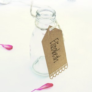 Brown Kraft Mini Heart Luggage Tags