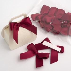 Coral Pink Satin Bows 12 Pack