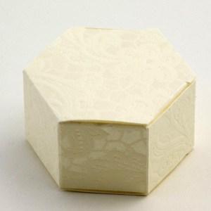 Cream Macrame Hexagonal Favour Box