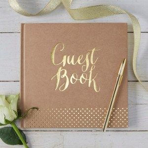 Gold Foiled Kraft Guest Book
