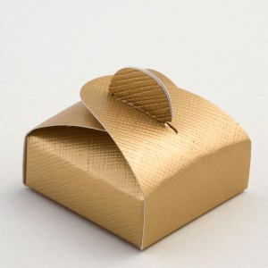 Gold Silk Mini Astuccio Favour Box