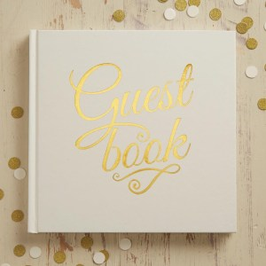 Ivory & Gold Foiled Wedding Guest Book