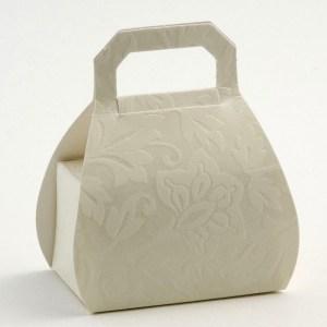 Ivory Diamante Handbag Favour Box