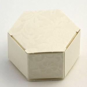 Ivory Diamante Hexagonal Favour Box