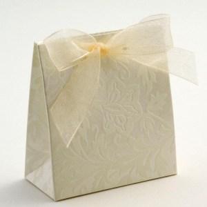 Ivory Diamante Sacchetto Favour Box